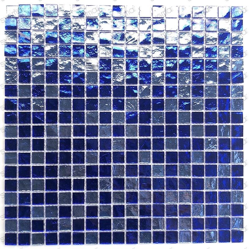 carrelage verre mosaique GLOSS BLEU