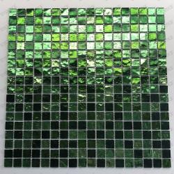 carrelage verre mosaique salle de bain douche GLOSS VERT