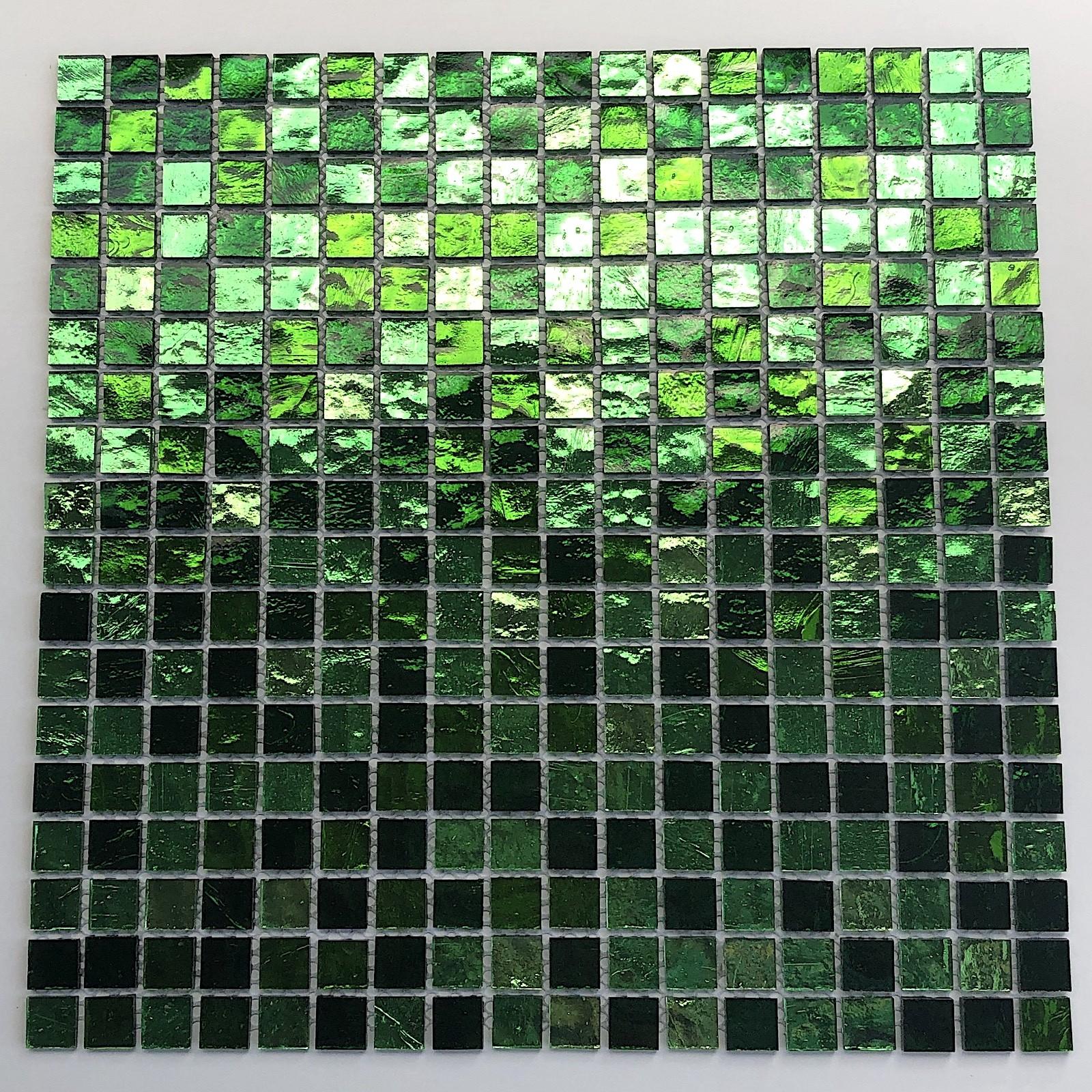 carrelage verre mosaique salle de bain douche GLOSS VERT ...