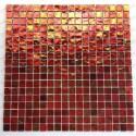 Azulejos de mosaico de baño ducha modelo gloss-orange