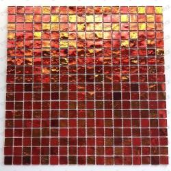Carrelage mosaique murale cuisine et salle de bains gloss orange