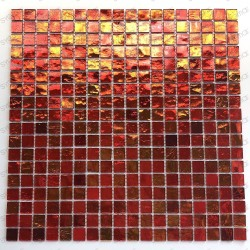 Mosaic bathroom tiles shower model gloss orange