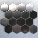 carrelage hexagon acier inoxydable metal modele Kiel