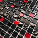 Mosaique en verre et pierre pour salle de bain et douche Agati