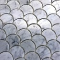 Scalefish marble tile mosaic for wall and floor Timpa