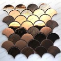 Copper stainless steel mosaic tile model Hoopa