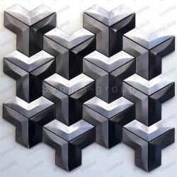 mosaique aluminium douche salle de bain et cuisine Daasie