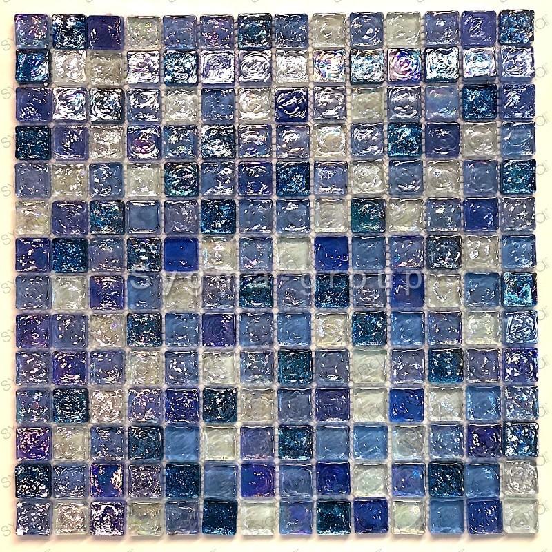 mosaico ducha vidrio mosaic baño frente cocina Arezo Cyan