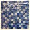 Blue mosaic tiles glass walkin shower Arezo Cyan