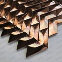 Copper mirror stainless steel mosaic tile model Vernet