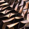 carrelage acier inoxydable miroir cuivre modele Vernet