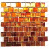 Glass mosaic for bathroom shower kitchen Drio orange