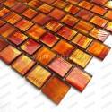 Mosaique douche italienne credence cuisine Drio orange