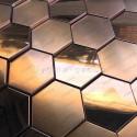 carrelage acier inoxydable metal modele Zuiver