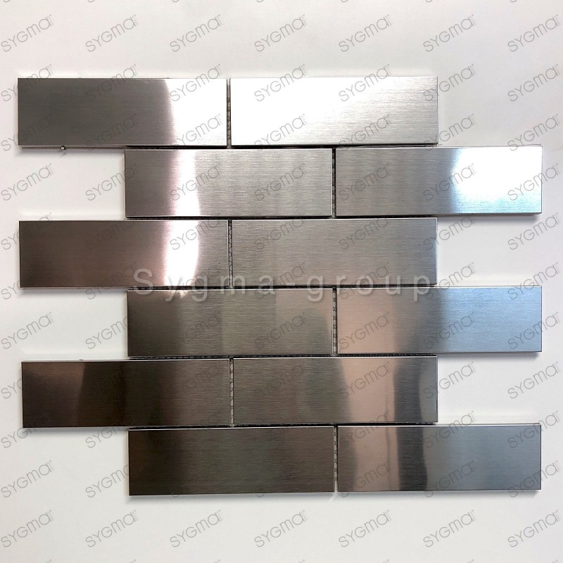 tiles stainless steel mosaic stainless steel backsplash stainless Brique 140