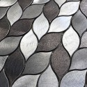 mosaico aluminio muro ducha baño y cocina Mood