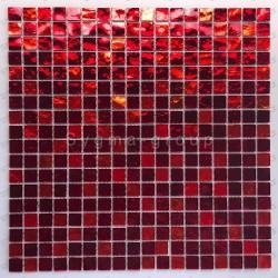 mosaico ducha vidrio mosaic baño frente cocina Gloss rouge