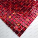 mosaic tiles glass shower bath model Gloss rouge
