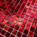 mosaique carrelage en verre douche salle de bains Gloss rouge