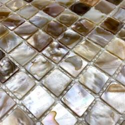 Mosaique nacre douche salle de bain 1m Naturel
