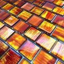 Mosaique verre cuisine et salle de bains 1m Drio orange