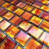 Glass mosaic tile kitchen and bathroom 1m Drio orange