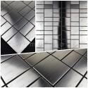 Mosaico acero inoxidable cocina ducha banos muestra Argos