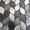 mosaico aluminio frente cocina ducha baño 1m MOOD