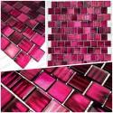 Echantillon carreaux mosaique verre salle de bains cuisine et douche drio violet