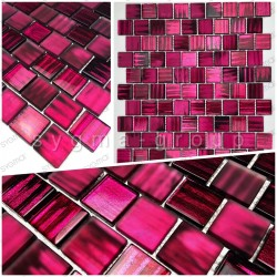 Glass mosaic tile sample for shower kitchen and bathroom drio violet