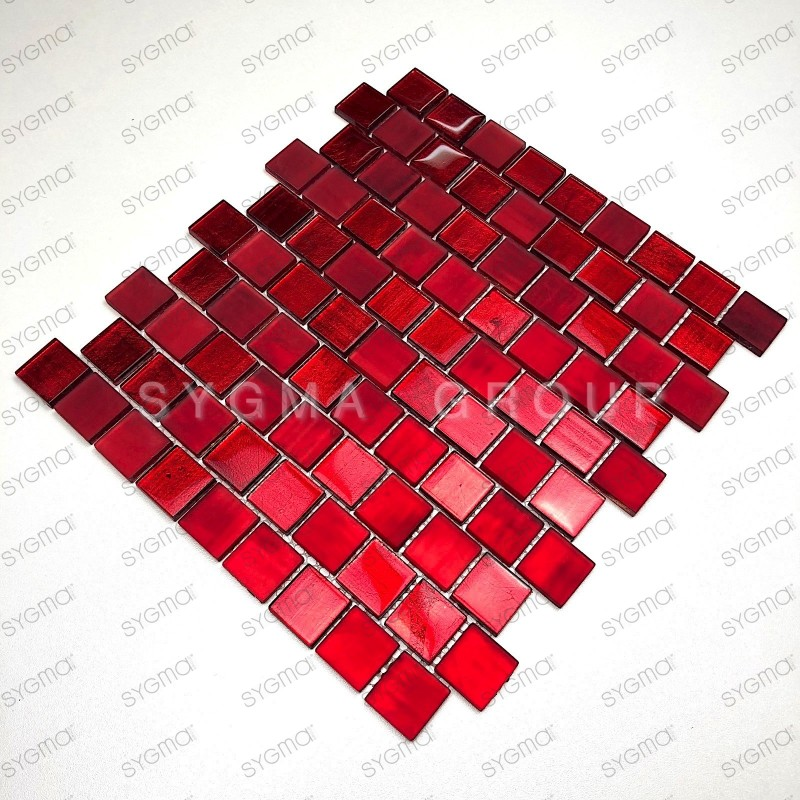 Malla azulejos de la cocina y mosaico del baño 1m drio rouge