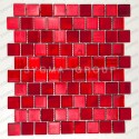 carrelage mur de cuisine et mosaique salle de bains 1m drio rouge