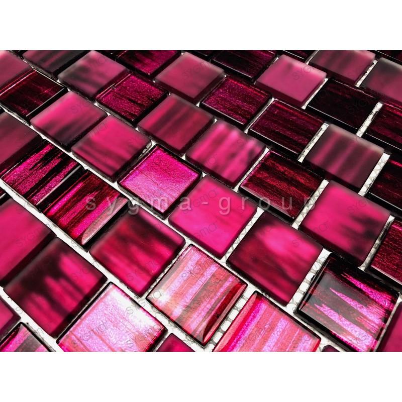 carrelage en verre pour mur cuisine et salle de bains 1m drio violet