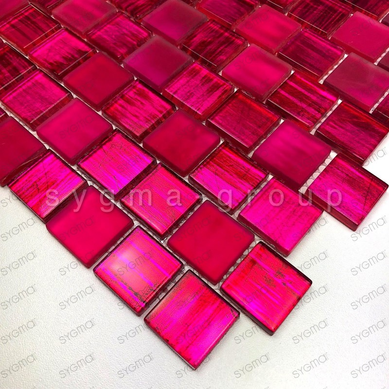 Glass mosaic for bathroom shower kitchen Drio rose