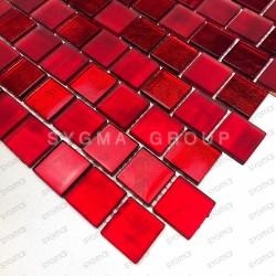 Mosaico de vidrio para ducha bano y cocina Drio Rouge