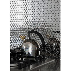 Tile mosaic polished backsplash stainless steel mirror SORA