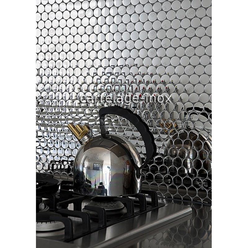 Mosaico en acero inoxydable cocina baño SORA