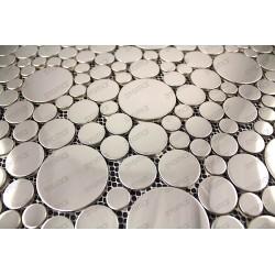espejo de mosaico de azulejos de acero inoxidable para el suelo y la pared de la ducha o la cocina 1m Focus Miroir