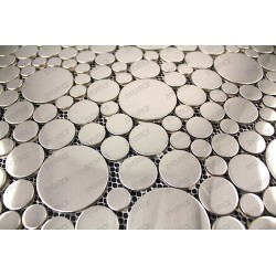 stainless steel tile mosaic mirror for floor and wall shower or kitchen backsplash 1m Focus Miroir