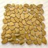 mosaico ducha acero muro y suelo cocina baño Syrus Gold