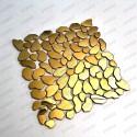 stainless steel pebble backsplash kitchen mosaic shower Syrus Gold