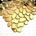 Mosaique Galets carrelage metal inox cuivre mur et sol Syrus Gold