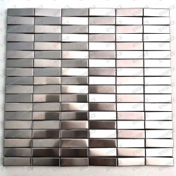 Mosaico en relieve 3D en acero inoxidable para las paredes de la cocina o el baño Shelter