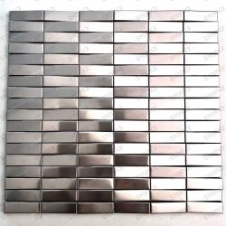 Mosaique relief 3d carrelage en inox pour mur de cuisine ou de salle de bains Shelter