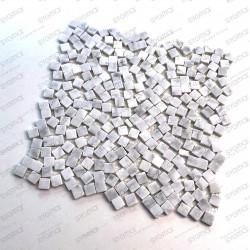 Mosaique carrelage pierre 1 plaque Sultan Blanc