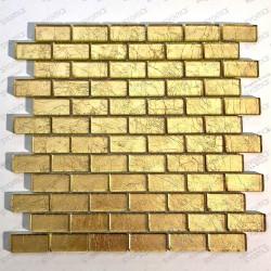 carreaux mosaique or en verre pour mur TESSA OR