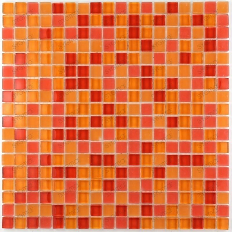 Mosaique carrelage verre 1 plaque TONGA