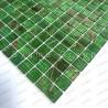 Mosaique pate de verre douche et salle de bain Speculo Vert