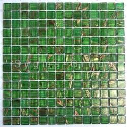 Plaque pate de verre mosaique pour sol ou mur salle de bains et cuisine Plaza Vert