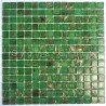 Glass mosaic sheet for a floor or wall of a bathroom and kitchen Plaza Vert
